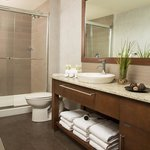 Bright and refreshing bathrooms with glass shower