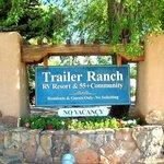 entrance sign to rv resort