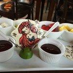 Chocolate fondue & Ariel!