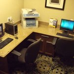 Business Center features two work stations and a printer / copier