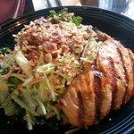 Salmon and Napa salad
