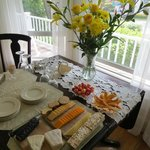 Atlantic Ark Inn's afternoon cheese buffet