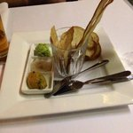Bread plate with trio of dips
