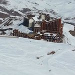 Visão do Complexo do Valle Nevado Ski Resort