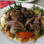 The lamb greek salad