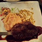 Filete Tequila,  tender steak but boring sauce, Chipotle mashed potatoes were good.