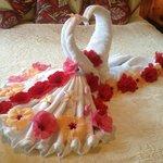 Anniversary Towel Swans