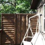 Back porch privacy fence