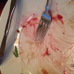 The remains of my beet salad.