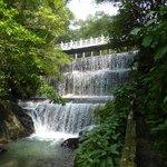 waterfall source at dam