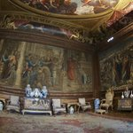 One of several opulent rooms - note the George III coronation chairs on the right