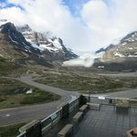 View from our room of the glacier