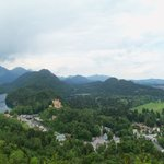Schloss Hoenschwangau as seen from Neuschwanstein