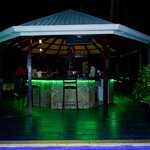 NIghtime view of the bar