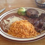Carne asada and carnitas combo
