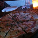 Good size margerita pizza.