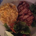 Grilled chicken and mac n cheese