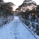 Walkway to hub of skiing activities