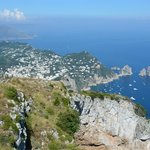 View of Capri and Sorrento in the distance
