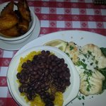grilled grouper, plantains, rice&beans