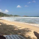 Mirissa Beach in front of hotel