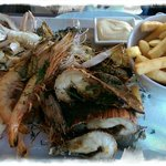 The Seafood platter (With Chips)