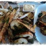 Seafood Platter with additional Crispy skinned Barrumundi