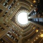 купол в центре гостиничного холла