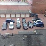 Hotel visitor parking lot