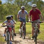 Explore the property on mountain bikes