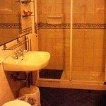 バスルームはとても清潔でかわいいつくりです。
