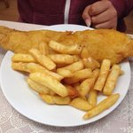 Cod n' chips. Smallest portion. Goodness only knows what a large looks like !
