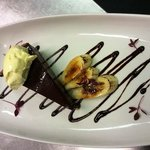 chocolate tart caramelised banana