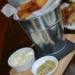 Bucket of crisp and fluffy chips