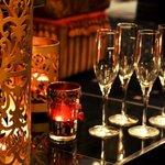 Awaiting Champagne at the Bar
