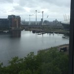 The view from room 5024! Overlooking the majestic Thames and O2