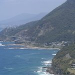 Looking towards the Sea Cliff Bridge  from Bald Hill Lookout