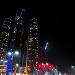 The Etihad Towers at Night