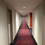 Corridor from lifts to room