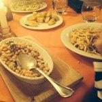 A table of Italian food!
