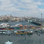 Galata Bridge and Bosphorus view from the Terrace