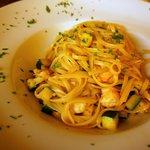 Pasta with gambas