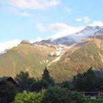 Vue du Mont Blanc depuis l'hôtel