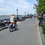 Bike path along the Hudson