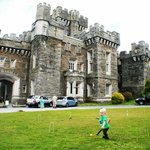 My son at low wray castle