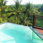 Villa 10's infinity balcony pool and breathtaking views