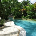 Lazy river area of the pool