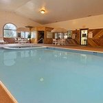 Enjoy the heated indoor pool & relax in the hot tub.