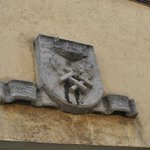 Insignia above the door