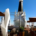 The rooftop bar.